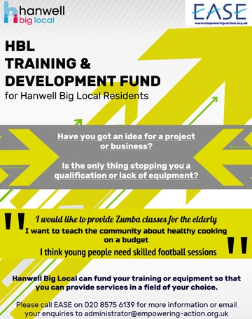 Hanwell big Local Training&Development Poster
