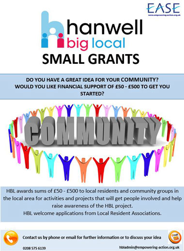 hanwell bigl ocal smal grants