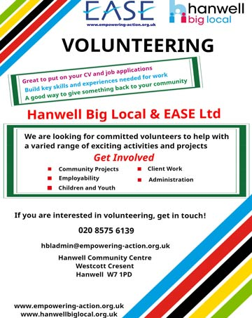 Hanwell Volunteering Poster